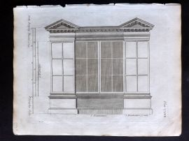 Langley 1777 Antique Architectural Print. Book Case 162